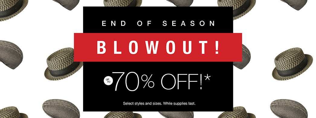 End Of Season Blowout - Up to 70% Off!