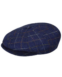 Galvin Windowpane Plaid Newsboy