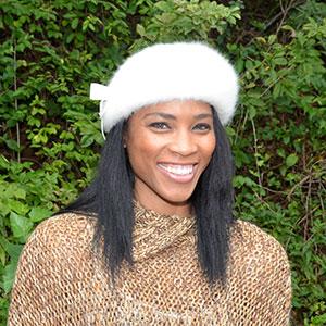 Woman Wearing Fur Cap