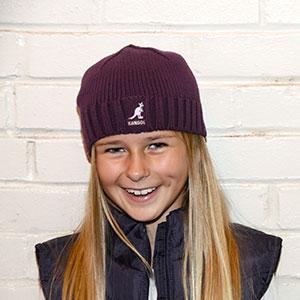 Child Wearing Knit Beanie Cap